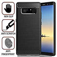 SAMAR - Samsung Galaxy Note 8 Case Cover [Release 2017] Premium Quality Shock Absorption Case [Matte Black] Cover + [FREE Lifetime Replacement Warranty] for Galaxy Note 8