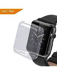 bandmax Apple Watch 3 Funda, 38mm Suave TPU Proteger Completa Case Anti-Arañazos Borrar Espalda para Apple Watch (38mm)