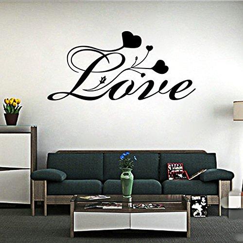 wassaw Englisch Kreative Liebe Valentinstag Diskurs Wandaufkleber Einfache wasserdichte Entfernen PVC Sport Indoor Baby Adler Liebe Home Office