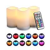 MOGOI Candele senza fiamma, LED candela elettronica con Timer e telecomando chiave 21 per decorazione & regali