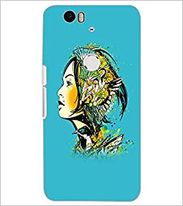 PrintDhaba Abstract Design D-5621 Back Case Cover for HUAWEI NEXUS 6P (Multi-Coloured)