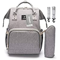 Diaper Tote Bag, HowiseAcc Nappy Changing Backpack Multi-Function Travel Backpack Organizer with Bottle Insulated Bags for Baby Care   Waterproof, Large Capacity, Stylish and Durable
