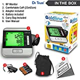 Dr. Trust USA Goldline Talking Automatic Digital Bp Monitor Machine with MDI technology 3 Color backlight (Includes Adapter, Carry Bag, Batteries)