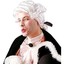 Peluca blanca estilo rococó pelo sintético barroco