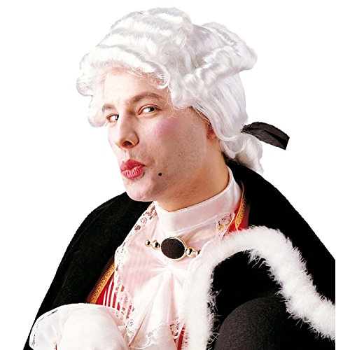 Weisse Barock Perücke Musiker Rokokoperücke Rokoko Barockperücke Kostüm Zubehör Pianist...
