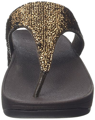 FitFlop Electra Micro Toe-post, Sandales  Bout ouvert femme Brown (Bronze)