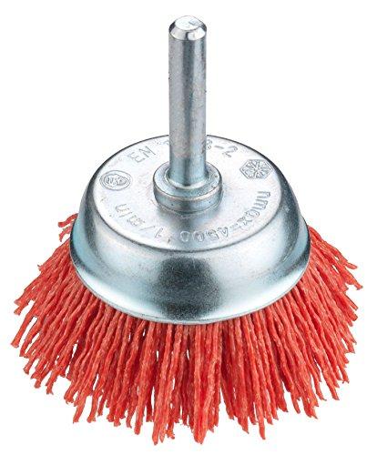 Connex COM218050 - Spazzola a tazza 50 mm, in nylon, colore: Rosso