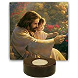 TYYC Christian Gifts, Guiding Lord Jesus Christ Votive Tealight Candle Holder For Christmas Set Of 1