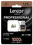 Lexar Professional 128GB Class 10 High Performance 1000x Micro SDXC UHS-II U3 Speicherkarte mit USB-Kartenleser