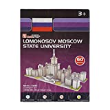 #9: AsianHobbyCrafts Mini 3D Puzzle World's Greatest Architecture Series :Lomonosov Moscow State University : Model Size -19cm x 9cm x 9cm