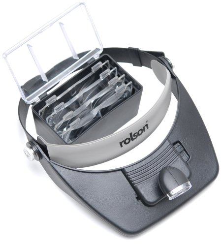 Rolson 60390 LED Head Loupe Magnifier Visor Test