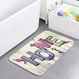 Alicemall Küchenläufer Teppich Fußmatte Fußabtreter Küchenvorleger Badematten Rutschfest Waschbar (Home 40x60)