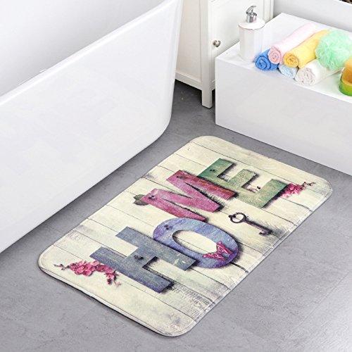 Alicemall tappeto morbido velluto corallo antiscivolo di sbr fondo antibatterici ingresso zerbino per cucina bagno sala da pranzo (40cm x 60cm, stile 1)