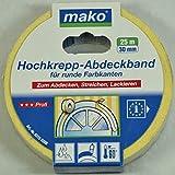 mako Hochkrepp-Abdeckband 60° C; ca.30 mm x 25 m; gelb