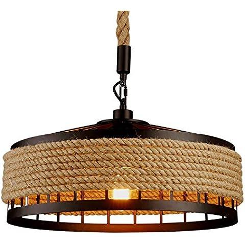 Vashti lámpara colgante/Tubo de luz/lámpara de techo/Americanas esstischlampe/Plafón/proyección cuerda hängel lámpara araña techo Twine redondas