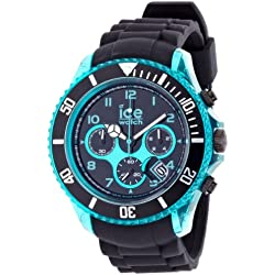 Ice-Watch Men's Quartz Watch with Black Dial Chronograph Display and Black Silicone Strap CH.KTE.BB.S.12