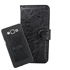 DooDa PU Leather Wallet Flip Case Cover With Card & ID Slots For Intex Aqua i5 HD - Back Cover Not Included Peel And Paste
