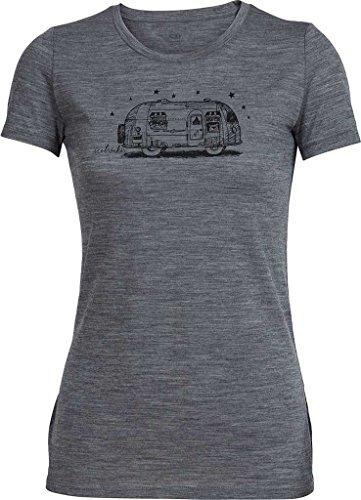 Icebreaker Damen T-Shirt Tech Lite Short Sleeve Crewe Sun Wash caravan gritstone heather