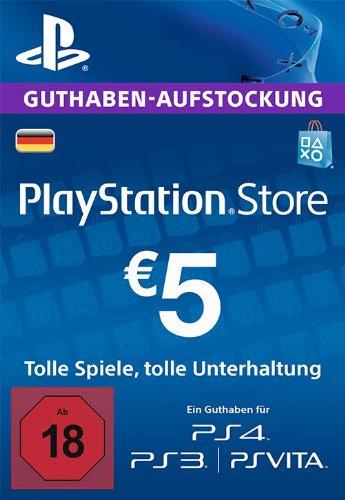 PlayStation Store Guthaben-Aufstockung 5 EUR [PS4, PS3, PS Vita PSN Code -...