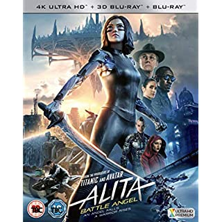 Alita: Battle Angel [ 3D, 4K UHD and Blu-Ray ] [2019]