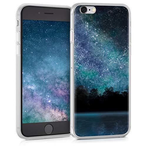 e 6 / 6S Hülle - Handyhülle für Apple iPhone 6 / 6S - Handy Case in Blau Schwarz ()