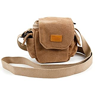 DURAGADGET Light Brown Small Sized Vintage Canvas Carry Bag - Compatible with the AccuBuddy Buddy X 12x26