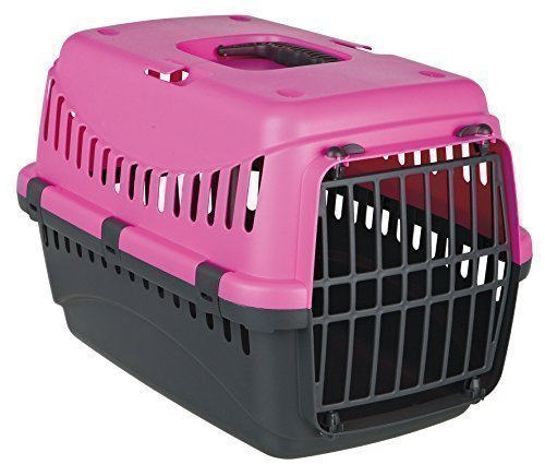 Emcke Heimtierbedarf 35699 Transportbox, dunkelgrau/pink