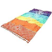 Mandala yoga mat Rainbow Chakra Toalla de playa manta para baño toalla yoga mat 7 Chakra
