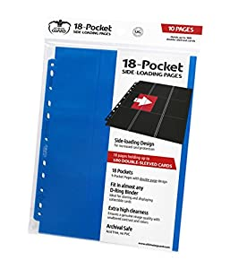 Ultimate Guard 18-Pocket Pages Side-Loading Azul (10)
