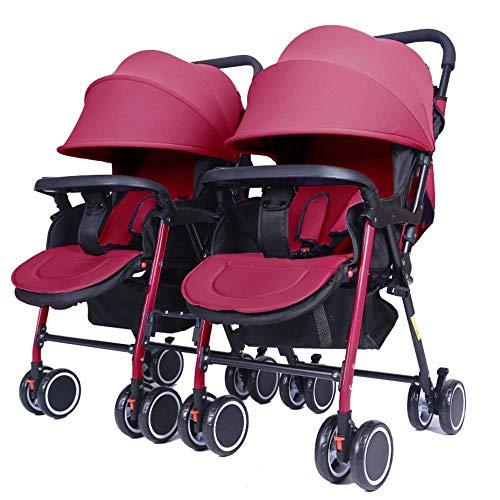 ZhiGe Kinderwagen Sport Zwei Zellen Baby tragbar, liegender Wagen klappbar abnehmbar ultraleichte transporthänger -