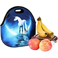 iColor Unicorn Universal Neoprene Sleeve Lunch bag Insulated warm/cold lunchbox Cooler Pouch Shopper Tote baby Portable Fashion Waterproof Cover Kids Handbag Food Carrying Case Protector Handle School Work by ICOLOR