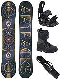 Airtracks Snowboard Set/Board Cosmic Voyage Wide Hybrid Rocker 160 + Snowboard Bindung Star + Boots Master QL 46 + Sb Bag