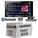 Peugeot Boxer 2 ab 2006 2 DIN - Pioneer AVH-X5800DAB - 2DIN Multimedia Autoradio inkl. DAB Antenne - Einbauset