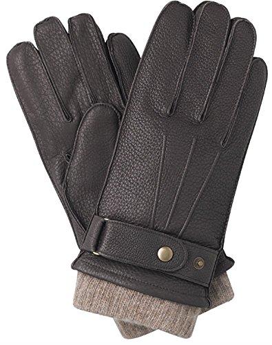 Preisvergleich Produktbild Southcombe Reeves Herren Handschuhe,  mit Kaschmir gefüttert,  Hirschleder,  Größe S,  Braun