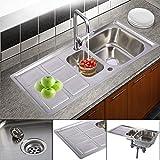 Edelstahl Küchenspüle Einbauspüle Waschbecken Spülbecken