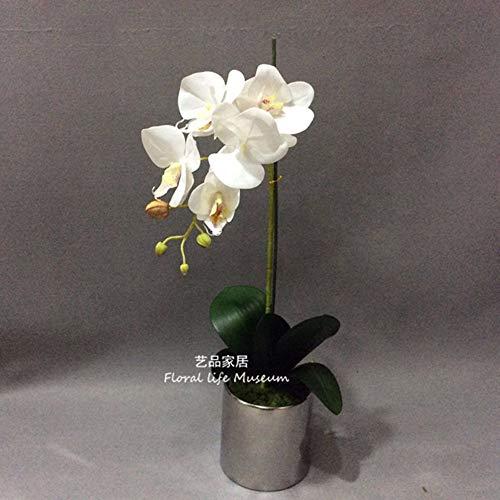 Tackebu orchidea artificiale fiori finti phalaenopsis composizione floreale ristorante scrivania rosa 60 × 20cm