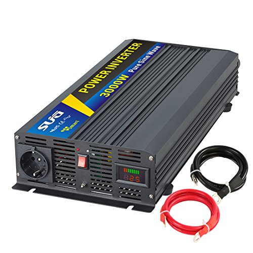 Sug Convertisseur Pur Sinus 3000w onduleur 12V à 220V Onde sinusoïdale Pure Power Inverter