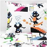 IKEA Lattjo Duvet Cover And Pillowcase Cat Multicolor 703.768.39