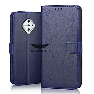 SHINESTAR PU Leather Flip Wallet Case with TPU Shockproof Cover for Vivo S1 Pro (Ultimate Blue, Vivo S1 Pro)