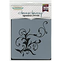 Donna Downey plantillas de plástico Signature 21,59x 21,59, Flourish # 1