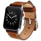 Apple Watch Armband 42mm, [Echtes Leder] iWatch Strap Ersatz Armband Premium Vintage Uhrenarmbänder...