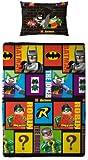 Character World 135 x 200 cm Lego Batman Cards Single Rotary Duvet Set