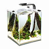 Aquael Shrimp Set Smart 2 10L 19L 30L Nano Aquarium Cube für Garnelen (10 Liter, Weiß)