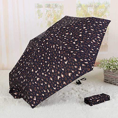YDYDYD 50-50-50, Zwei Regenschirme, Sonnenbrille, Sonnenbrille. 16 * 6cm/Panther blau.