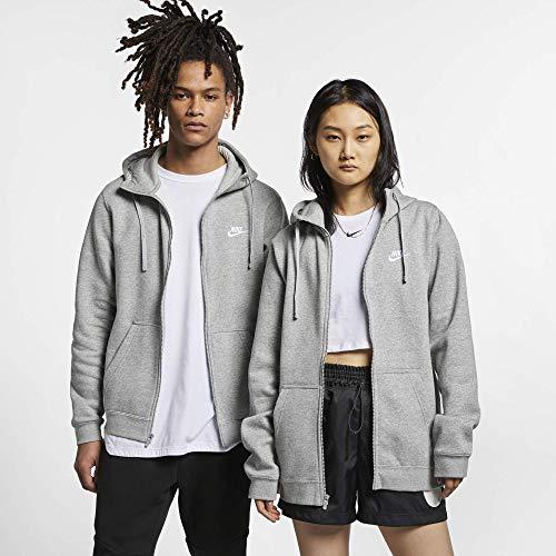 Nike Herren M Nsw Club Hoodie Fz Bb, Grau (dk grey heather), XL Front-zip-hoodie