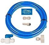 Aqualogis Wasser Filter Anschluss Set (kit-7) für Whirlpool Hotpoint Ariston American Style Kühlschränke Wasserschlauch 6,35mm (1/4