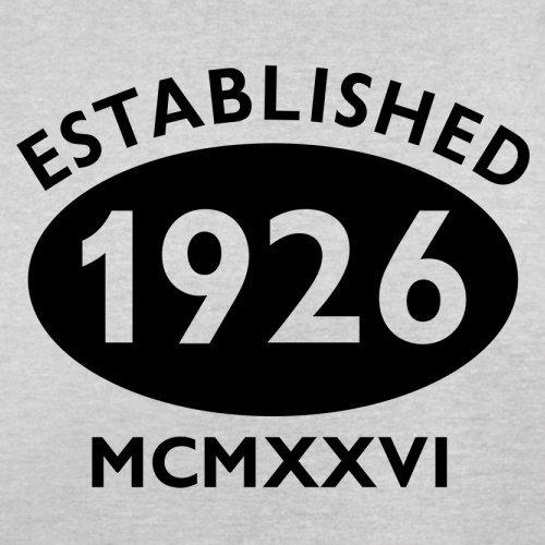 Gegründet 1926 Römische Ziffern - 91 Geburtstag - Herren T-Shirt - 13 Farben Hellgrau