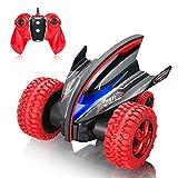 MaxTronic RC Cars, Fernsteuerungs Auto 2,4 GHz Off-Road Monster Truck Großes Vorderrad, Doppelmotor, 360 ° Drehung, Sprung, blinkendes LED-Rücklicht Rot