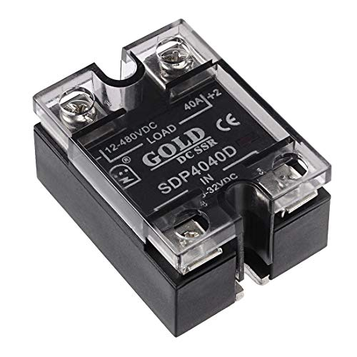 ZCHXD SDP4040D 3.5-32VDC to 12-480VDC 40A Single Phase Solid State Relay Module DC to DC