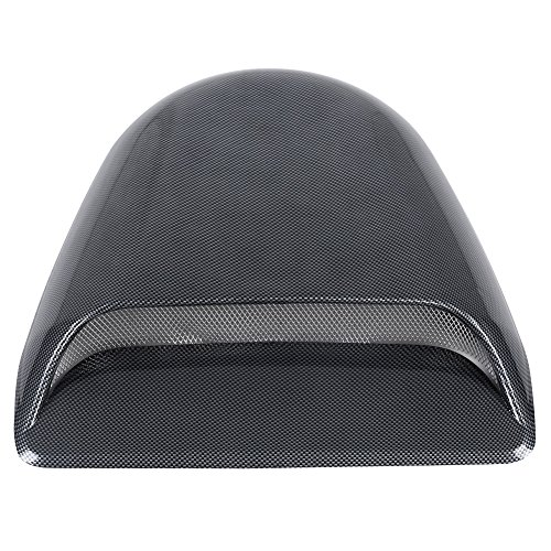 Abdeckung Vent Haube (Acouto Universal Car Dekorative Kohlefaser Look Air Flow Intake Scoop Motorhaube Vent Abdeckung Haube)